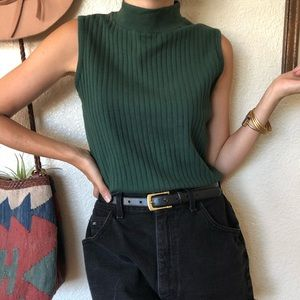 Vintage 80s/90s Mock Neck Tank Top